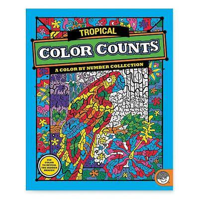 MindWare Color Counts - Tropical Coloring Book By Fun Express