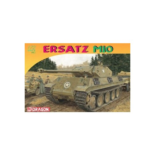 Dragon Models Ersatz M10 Armor Pro Series Tank Model Building Kit, 1:72 Scale Multi-Colored