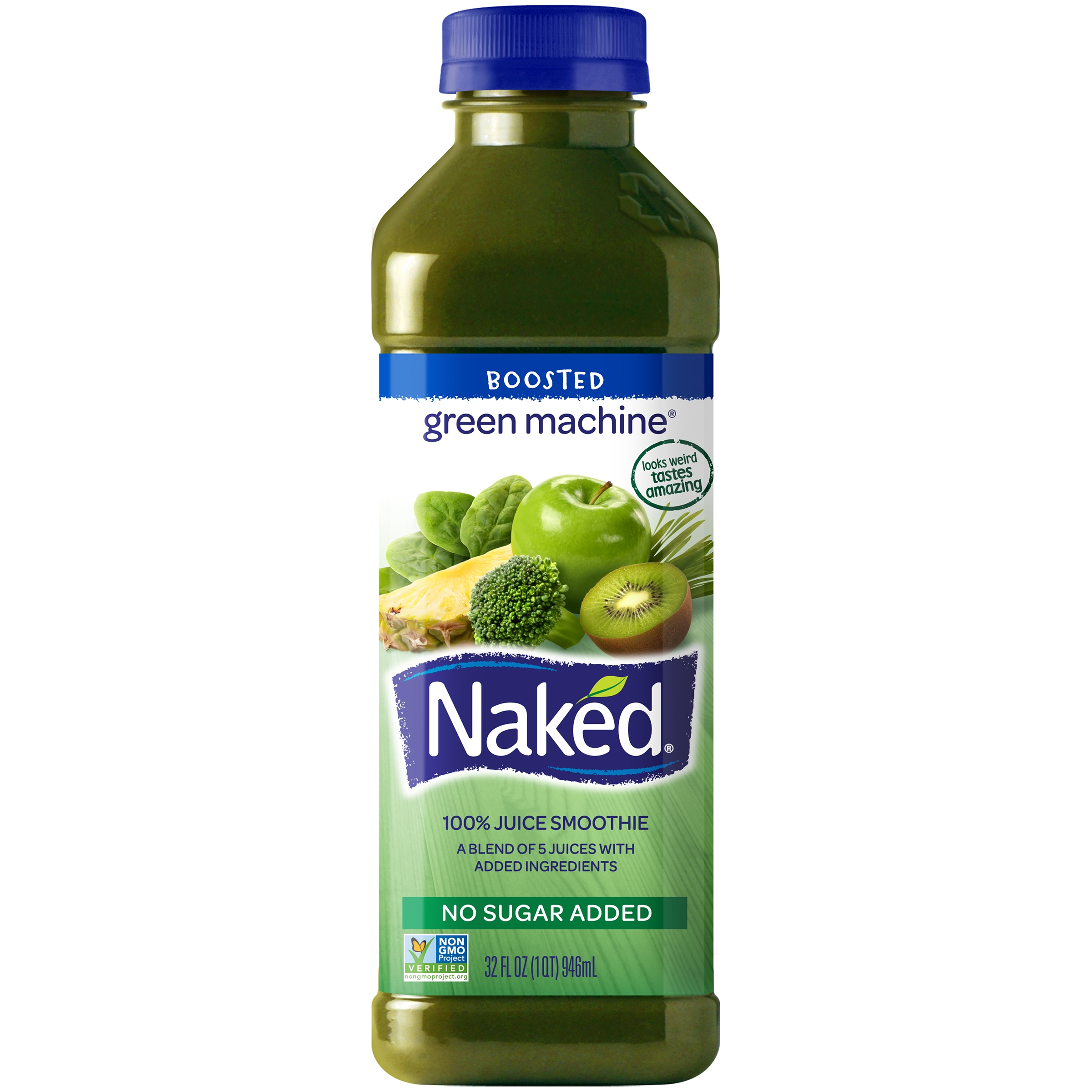 Naked Juice Boosted Smoothie Green Machine 32 Oz Bottle