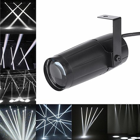 Yosoo LED Beam Pinspot Light, 3W Mini Stage Lights Spotlight Track Lighting for Children's Theater Family Party Club Cinema Karaoke Wedding or Outdoor Show - Pure White