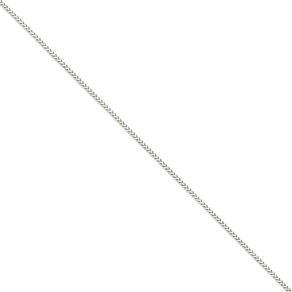 14K White Gold 2mm Wide Franco Chain Necklace