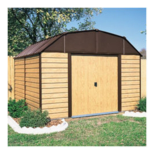 Arrow Woodhaven 10 Ft. W x 14 Ft. D Metal Storage Shed