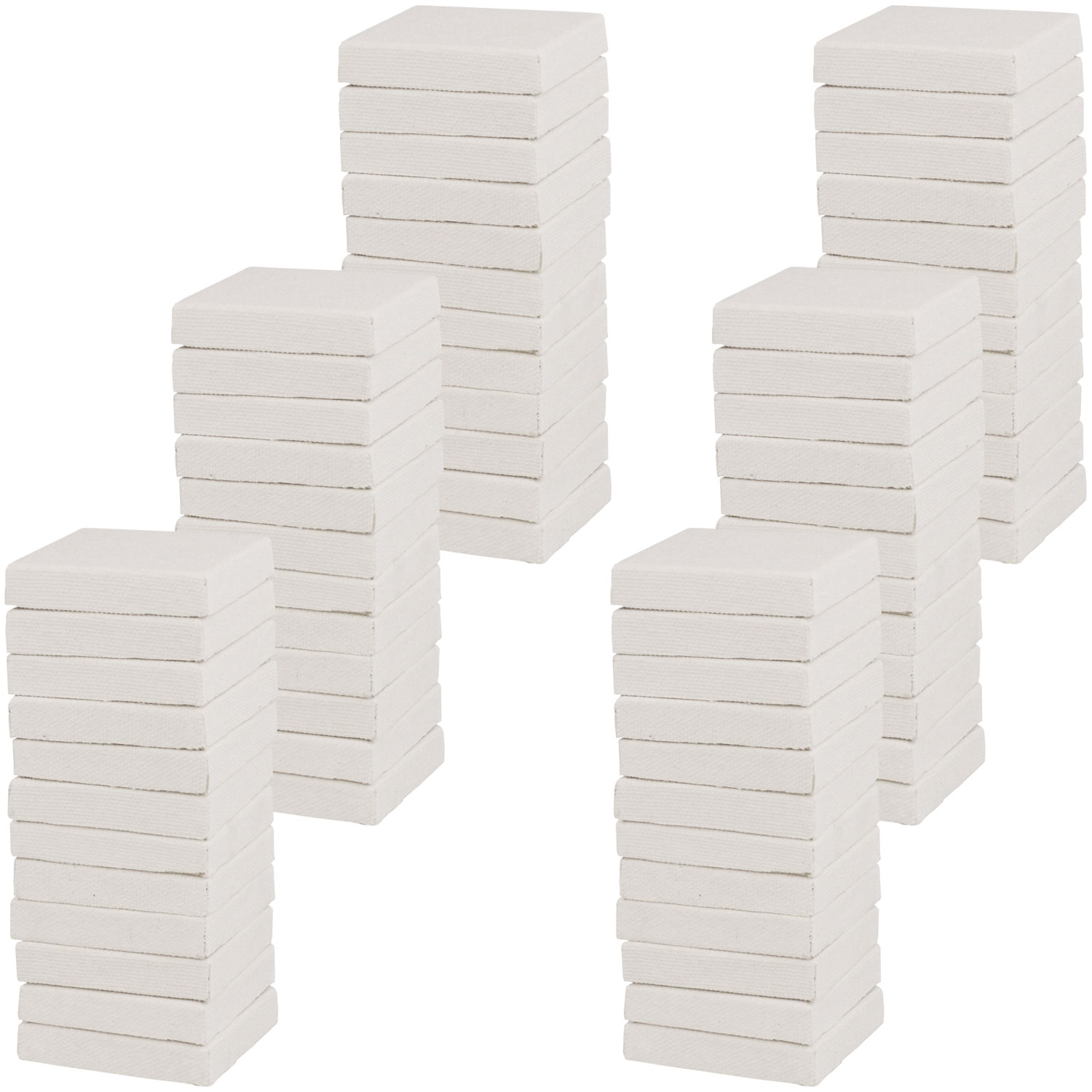 """US Art Supply 3"""" x 4"""" Mini Professional Primed Stretched Canvas 72-Mini Canvases"""