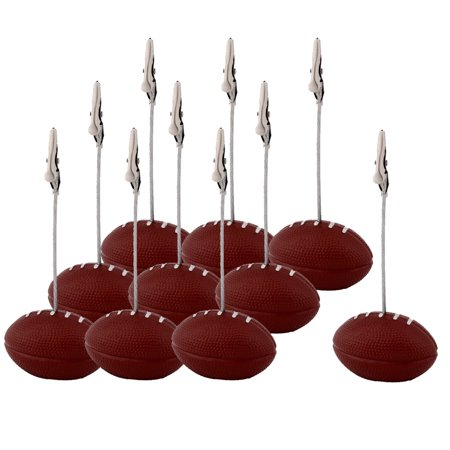 Home Office Resin Football Shaped Tabletop Decor Note Paper Memo Clip 10 Pcs - Shaped Paper Clips