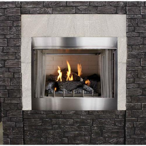 "Outdoor Traditional 42"" Premium Fireplace OP42FP32MN - Natural Gas"