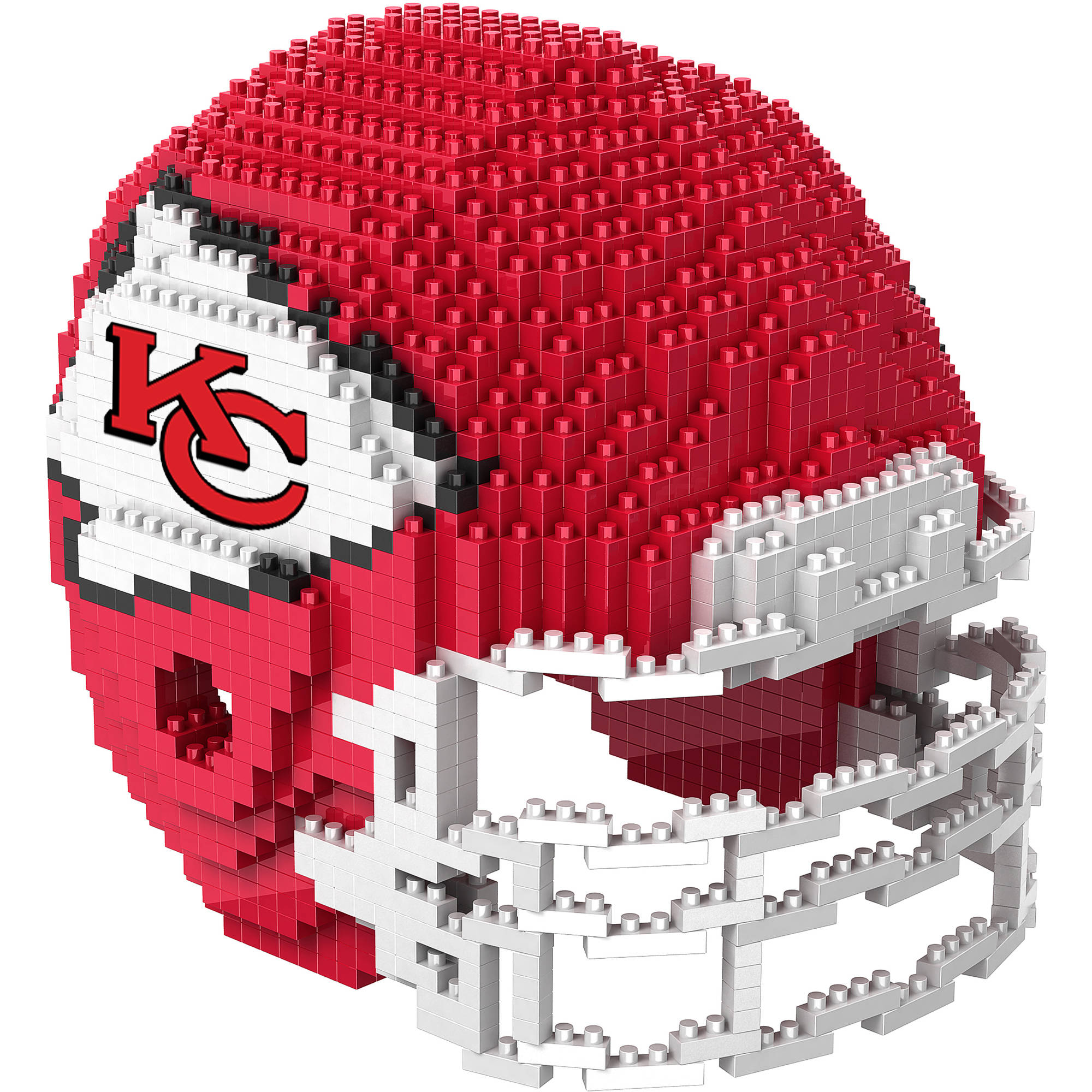 Forever Collectibles 3D BRXLZ Mini Helmet, Kansas City Chiefs