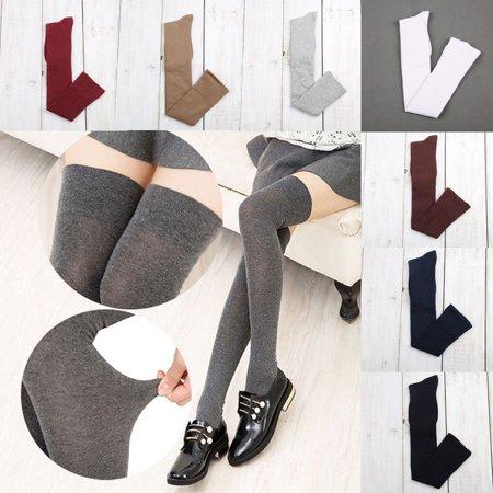 f7e4ab5bd Urkutoba - Vintage Girls Ladies Women Thigh High OVER the KNEE Socks Long  Cotton Stockings - Walmart.com