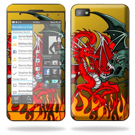 Mightyskins Protective Skin Decal Cover for BlackBerry Z10 Cell Phone wrap sticker skins Dragon Breath (Dragon Belly)