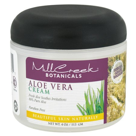 mill creek botanicals aloe vera cream 80 pure 4 oz. Black Bedroom Furniture Sets. Home Design Ideas