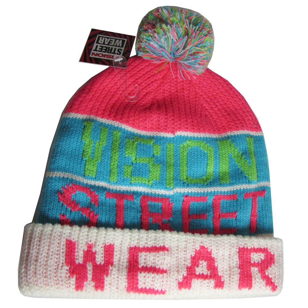 Vision Street Wear Mens VSW Beanie Fashion Vintage Snow Hat