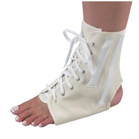 Canvas Ankle Brace With Laces, Beige - Medium - image 1 of 1