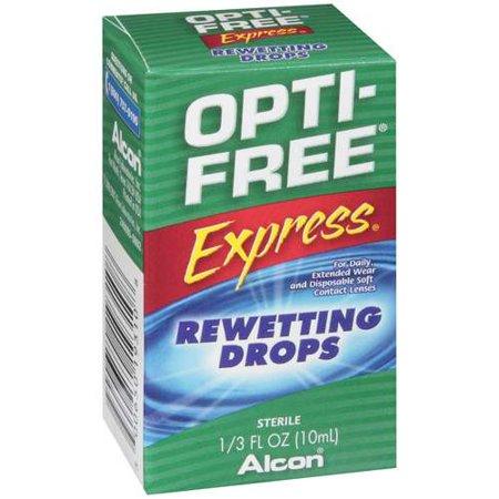Alcon OPTI-FREE EXPRESS Lentilles de contact gouttes hydratantes - 0,33 fl oz