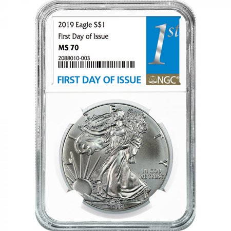 2019 NGC MS-70 First Day Of Issue American Silver Eagle - Ngc Ms62 Gold Coin