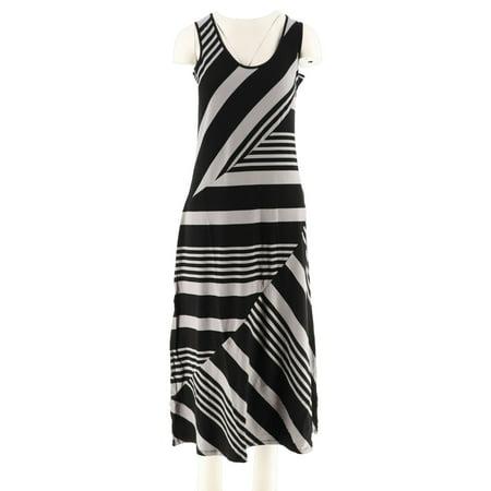 Lisa Rinna Petite Stripe Knit Maxi Dress A263133 ()