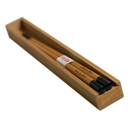 Personalized Bamboo Chinese Wood Chopsticks With Bamboo Chopstick Box