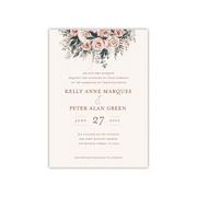 Gartner Studios Personalized Wedding Deluxe 5 x 7 Invite - Boho Bouquet