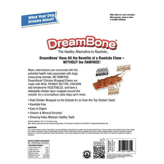 Dreambone Mini En Wred Chews With Peanut Er 20 Count