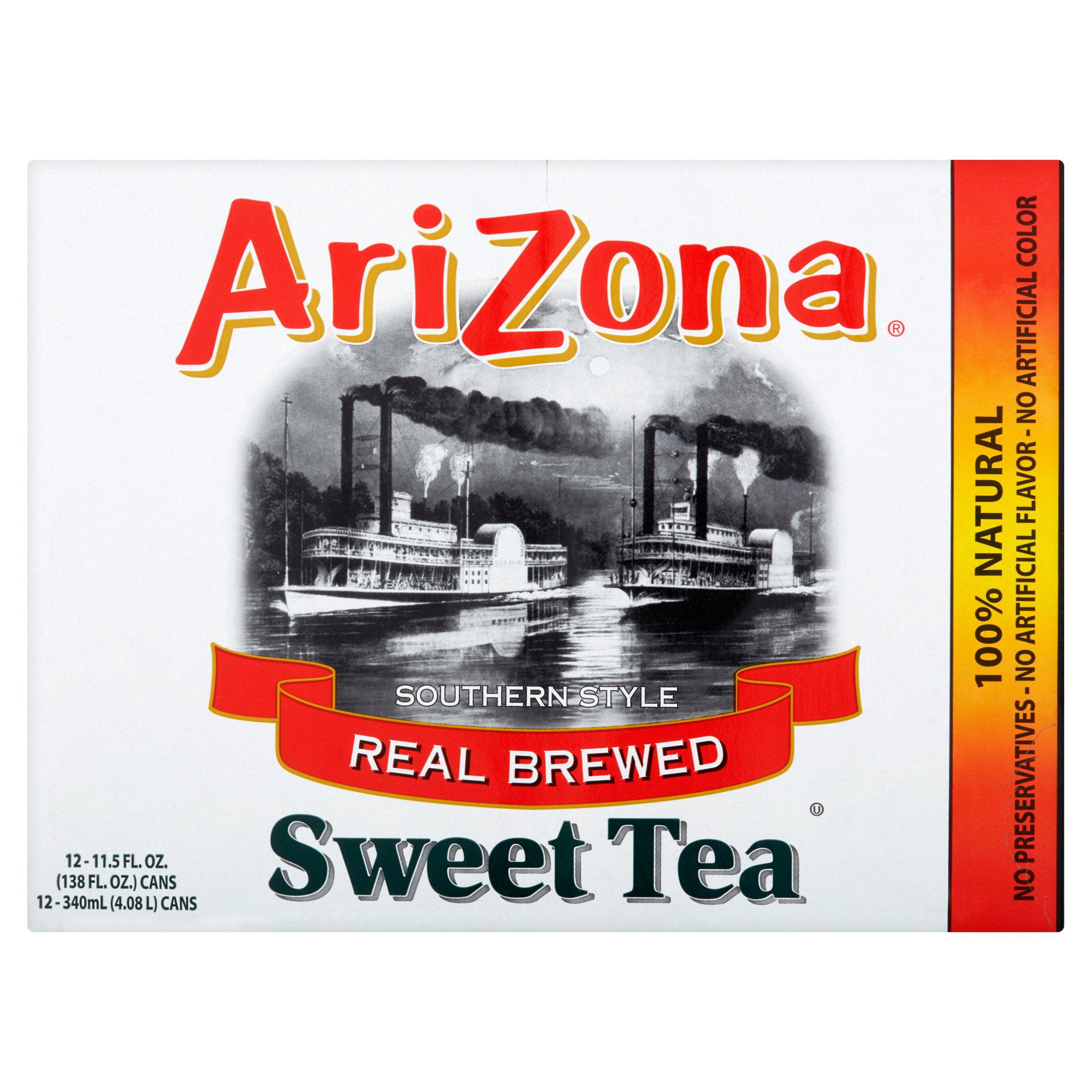 AriZona Real Brewed Southern Style Sweet Tea, 11.5 FL OZ by Arizona Beverages USA LLC