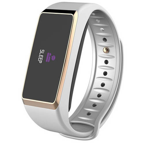 MyKRONOZ ZeFit2Pulse Activity Tracker with Heart-rate Monitor, White/Gold