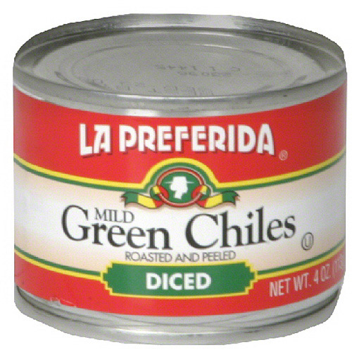 La Preferida Diced Green Chiles, 4 oz (Pack of 24)