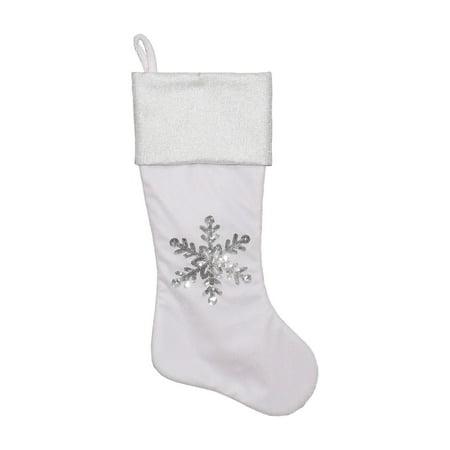 Dyno Metallic Sequined Snowflake Christmas Stocking (Snowflake Collection Stocking)