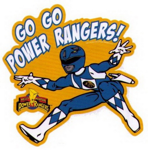 Power rangers go go blue ranger sticker ps864