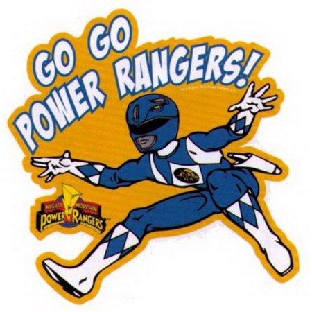 Power rangers go go blue ranger sticker ps864