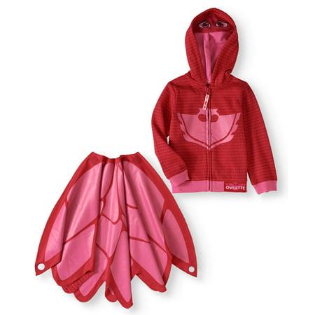 PJ Masks Owlette Toddler Girls' Costume - Batman Hoodie With Mask