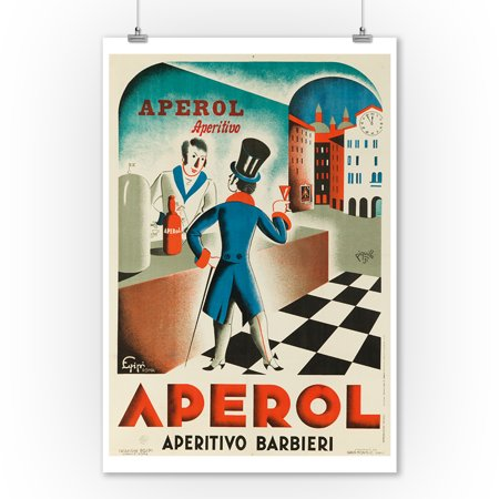 Italy - Aperol - (artist: Piquillo c. 1931) - Vintage Advertisement (9x12 Art Print, Wall Decor Travel Poster)