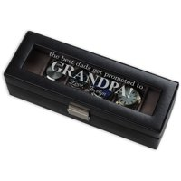 The Best Dads Get Promoted Grandpa Personalized 6-Piece Watch Case
