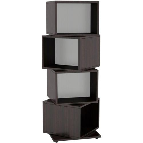 Atlantic Rotating Cube 216 Disc Media Tower In Espresso