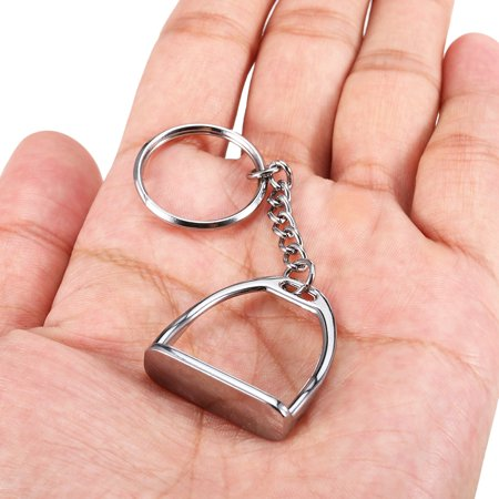 Zinc Alloy Key Chain Stirrup Key Ring Mini Keychain for Men Women - image 7 of 7