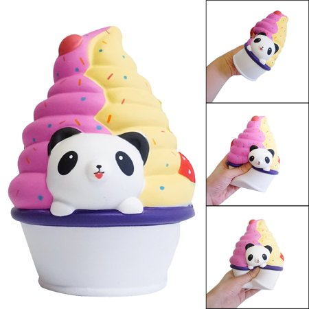Mosunx Squishies Panda Ice Cream Scented Cream Slow Rising Squeeze Stress Reliever Toy