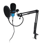 7PCS Condenser Microphone Kits + Shock Mount Broadcast Webcast Recording, Professional Sing Equipment