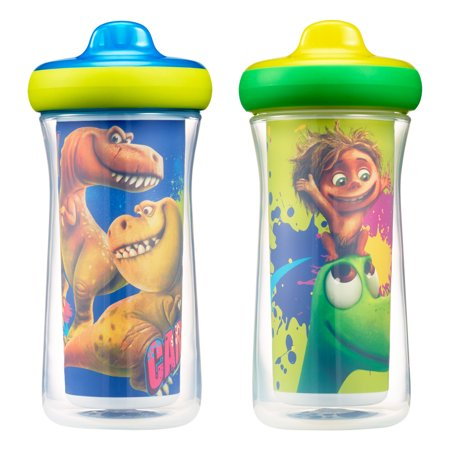 Disney-Pixar The Good Dinosaur Insulated Hard Spout Sippy Cups With One Piece Lid, 9 Oz, 2 Pack