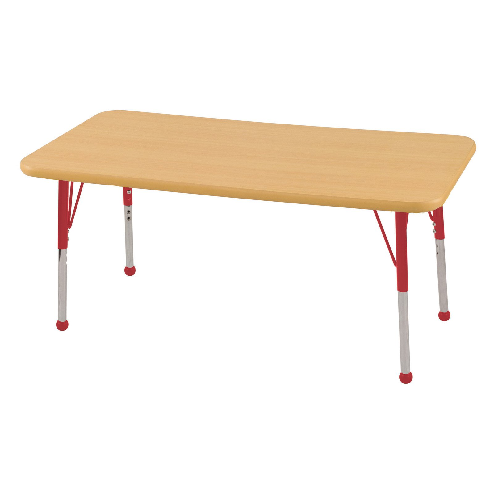 ECR4KIDS Maple Rectangle Activity Table with Maple Edge - Chunky Legs - 24L x 48W in.