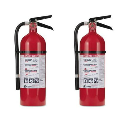 Kidde Pro 210 Fire Extinguisher, 4lb, 2-A, 10-B:C, 2 Pack for $<!---->