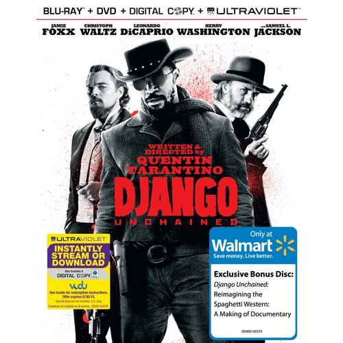 Django Unchained (Blu-ray + DVD + VUDU Digital Copy + UltraViolet + Bonus Disc) (Walmart Exclusive) (With INSTAWATCH) (Widescreen)
