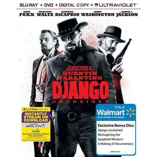Django Unchained (Blu-ray + DVD + VUDU Digital Copy + UltraViolet + Bonus Disc) (Walmart Exclusive) (With INSTAWATCH) (Widescreen)