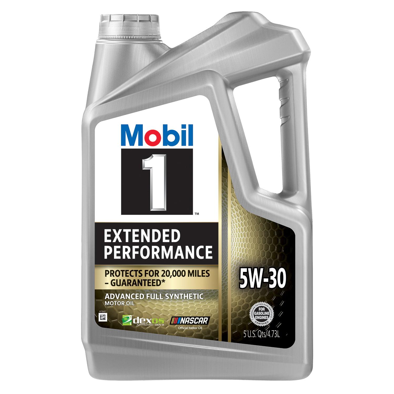 Mobil 1 Extended Performance Full Synthetic Motor Oil 5W-30, 5 Quart - Walmart.com