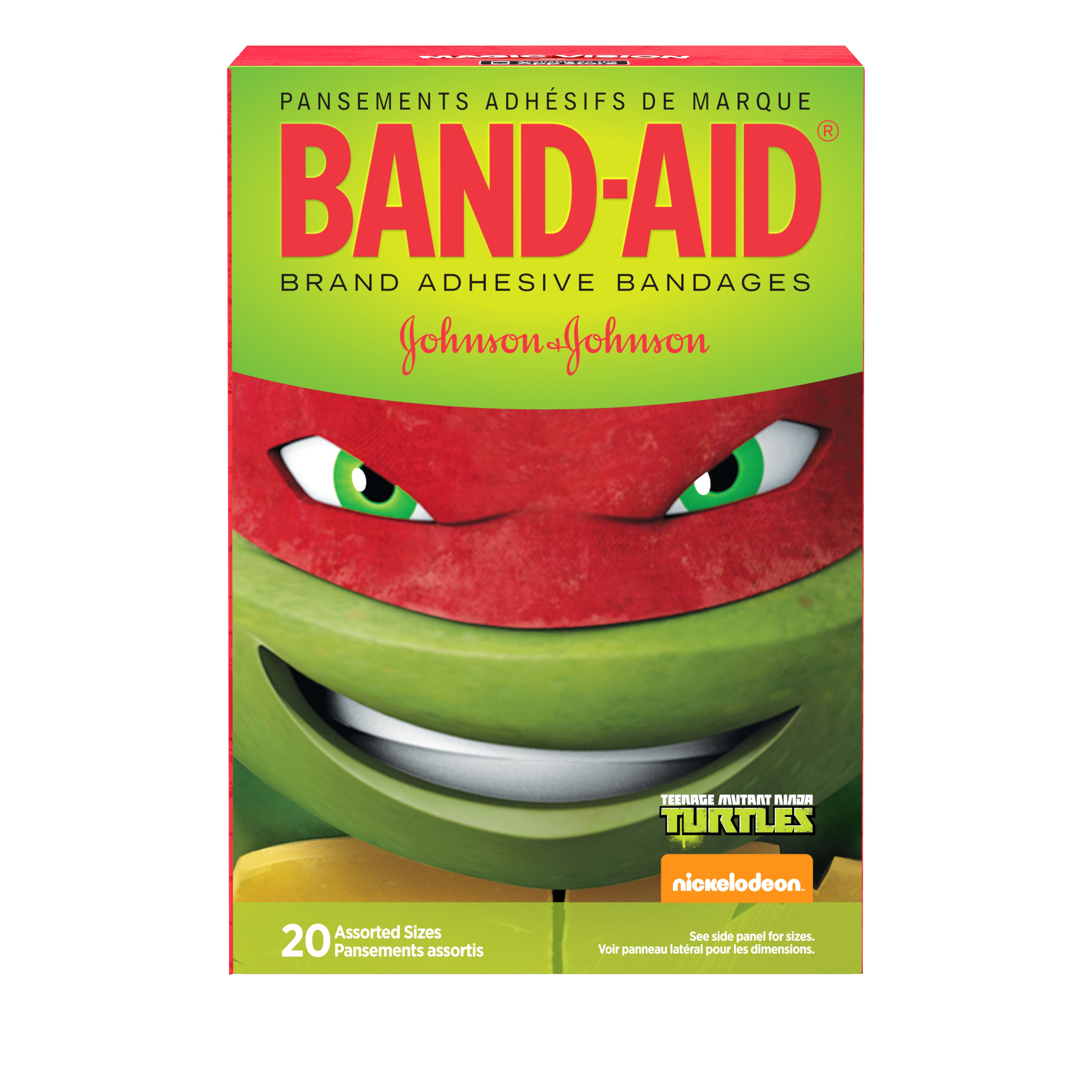Band-Aid Nickelodeon Teenage Mutant Ninja Turtles Assorted Sizes 20 ct