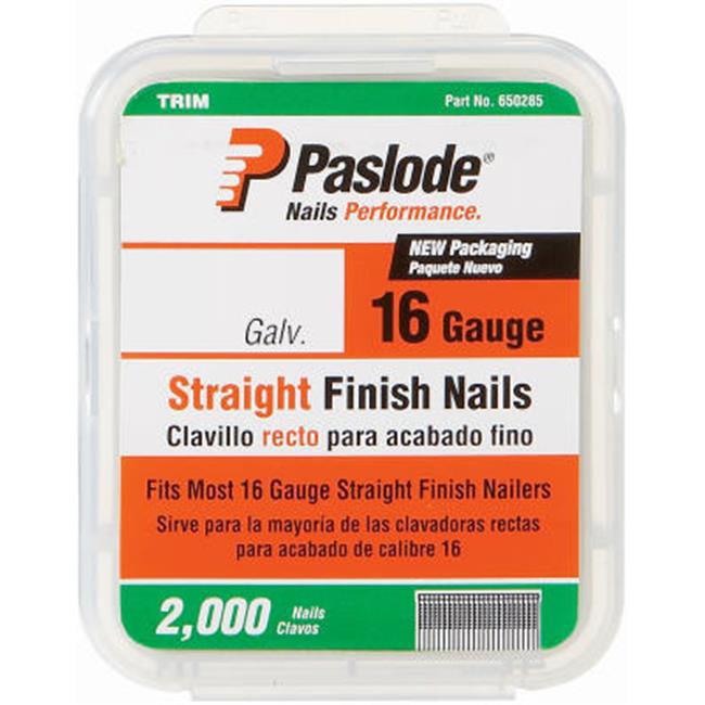 Angled Finish Nail 16ga PK2000 2-1//2 In