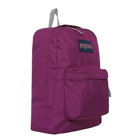 JanSport Solid Superbreak Backpack (Crushed Plum One Size ...