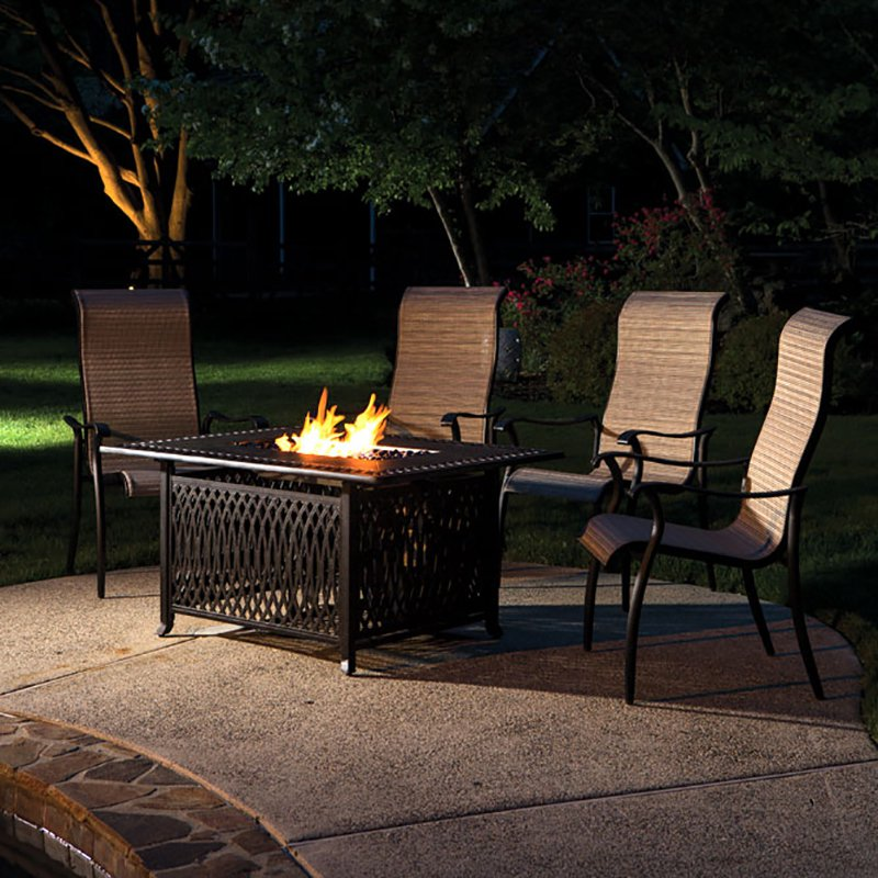 Alfresco Pescara Propane Gas Fire Pit Table