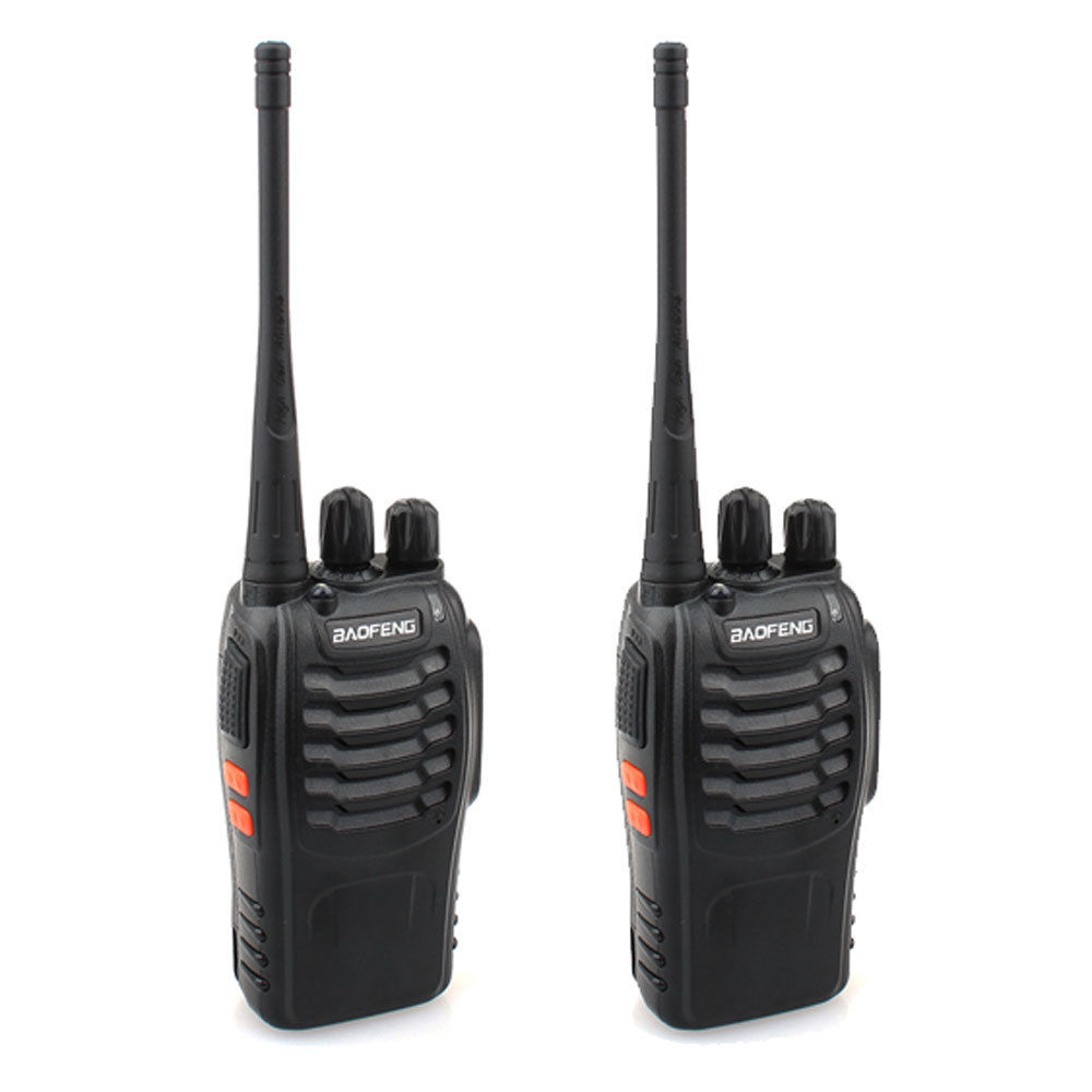2 Pcs Black Baofeng BF-888S UHF 400-470MHz 5W 3.7V Two-way Ham Radio Transceiver