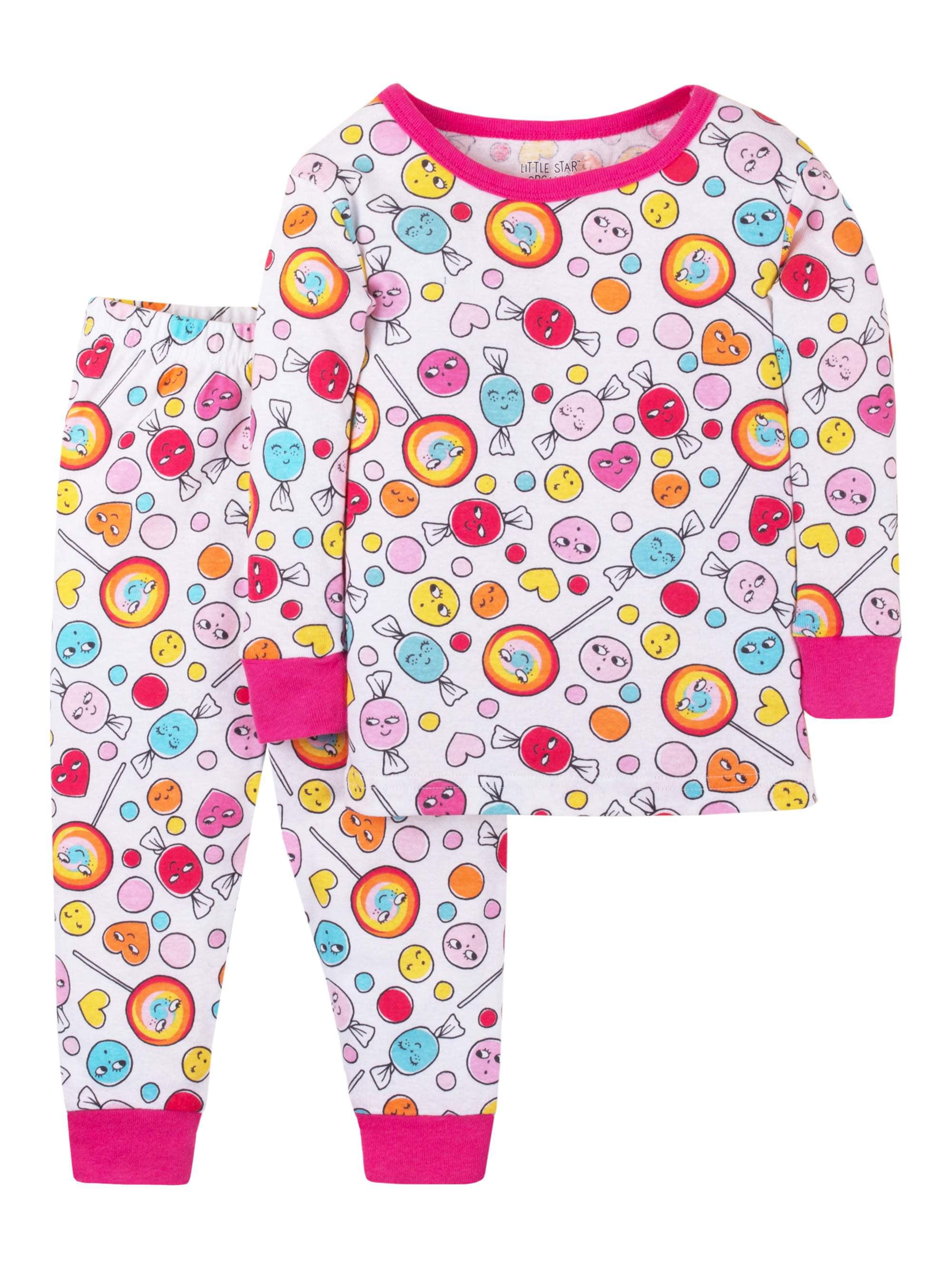 a097c9c6c Little Star Organic Cotton Long Sleeve Tight Fit Pajamas
