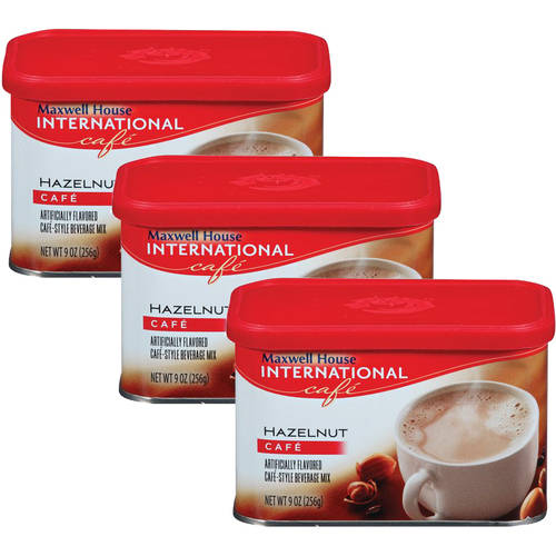 Maxwell House International Cafe Hazelnut Cafe Beverage Mix, 9 oz (Pack of 3)