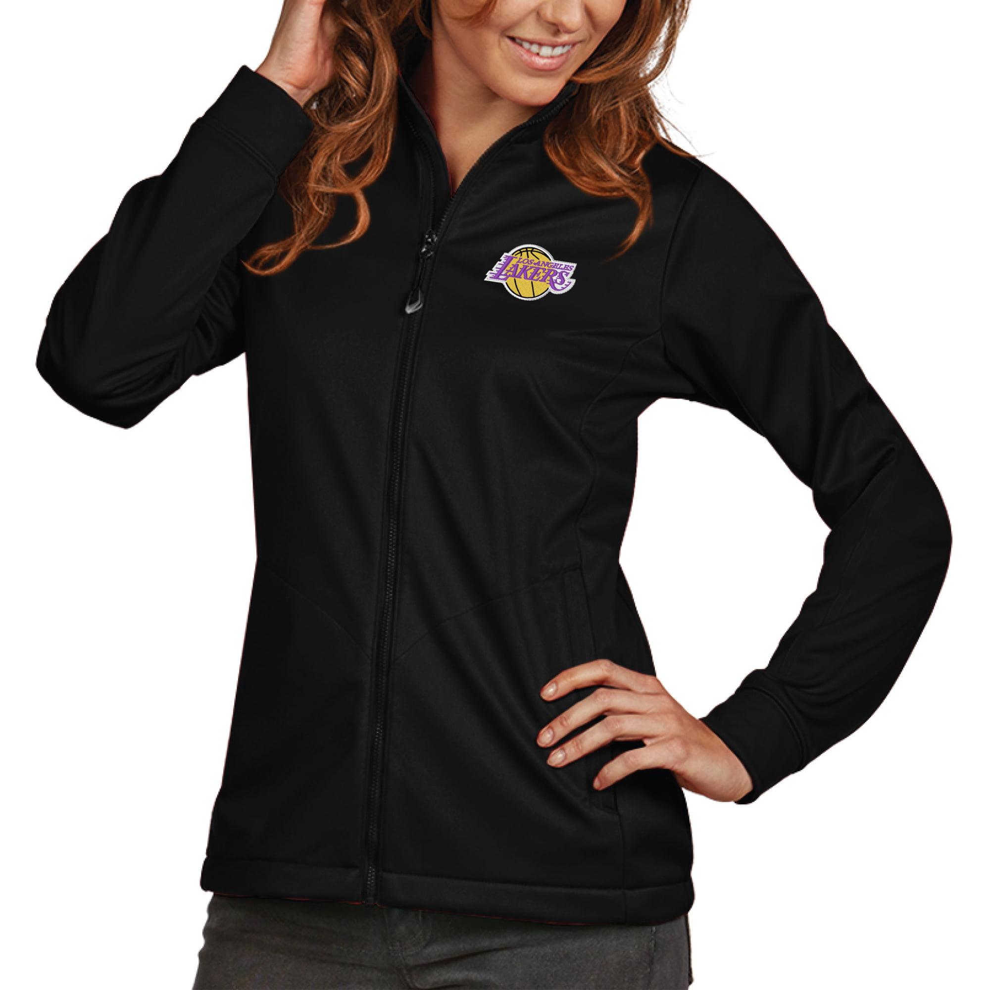 Los Angeles Lakers Antigua Women's Golf Full-Zip Jacket - Black