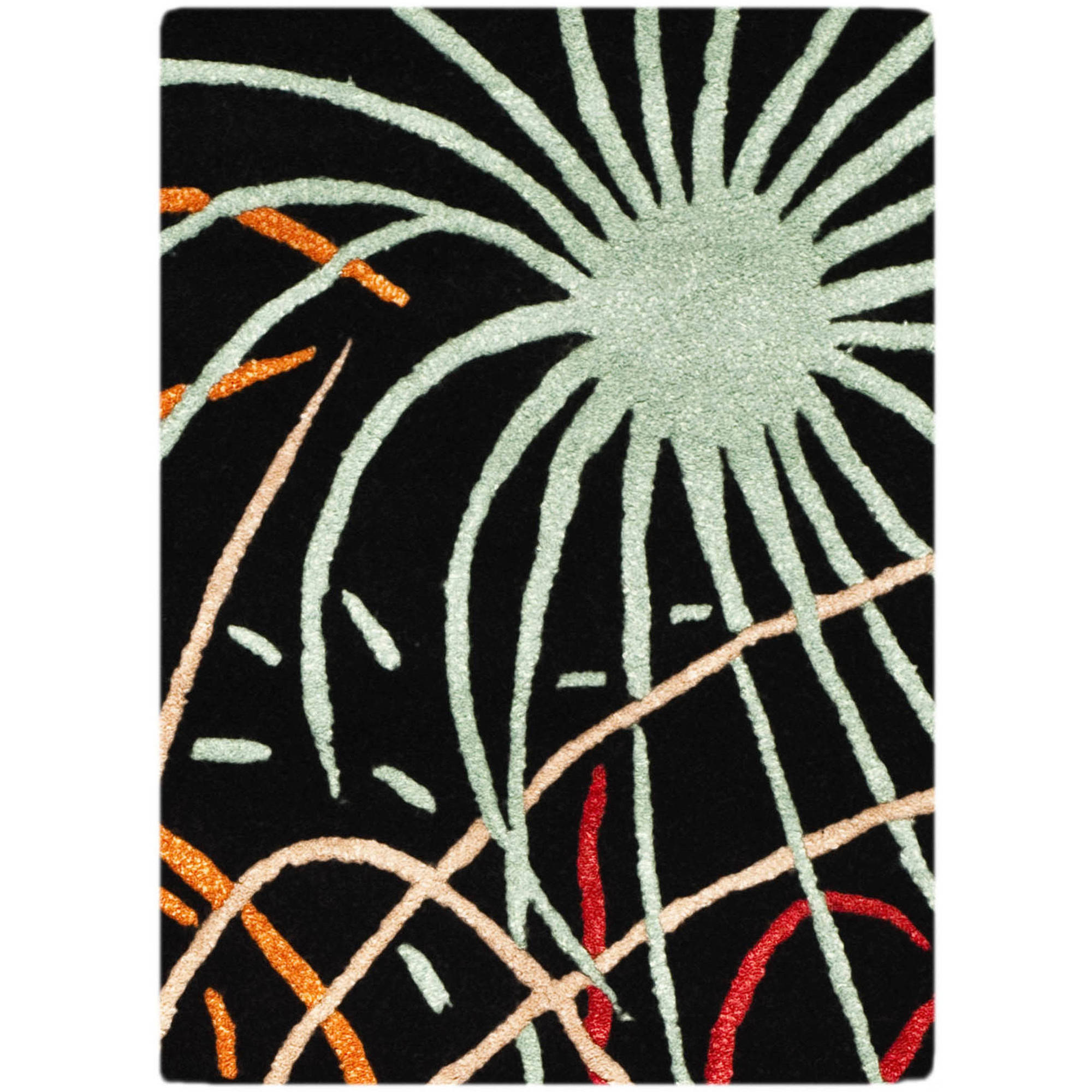 Safavieh Soho Keller Fire Works Wool Area Rug or Runner