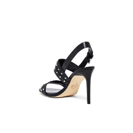 Michael Kors Strappy Sandals (Michael Kors Womens Astor Leather Open Toe Casual Strappy Sandals)